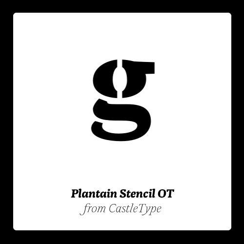 Plantain Stencil OT. #fonts #typography