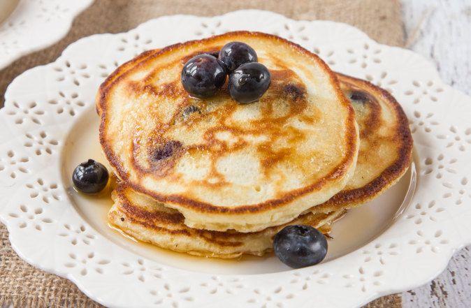 Blueberry Blueberry Sour Cream Pancakes Recipe Sour Cream Pancakes Pancakes Waffles Best Homemade Pancakes