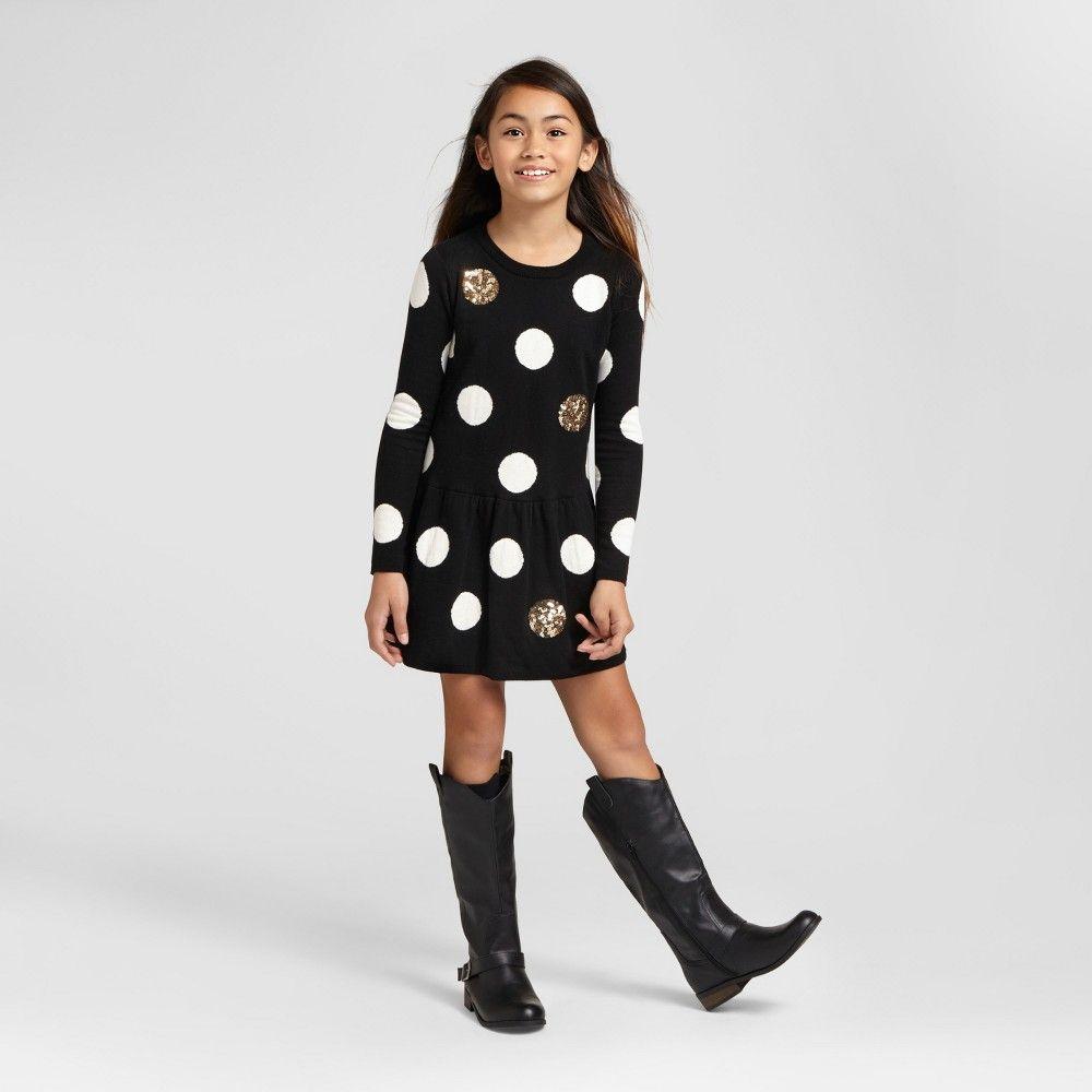 Girlsu sweater dress cat u jack blackwhite m girlus jack black
