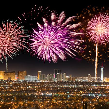 America S Best Fourth Of July Fireworks Displays With Images Vegas New Years New Years Eve In Las Vegas New Years Eve Events