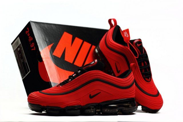 separation shoes d6b0b e2c1a Elegant Shape Nike Air Max 97 2018 October Red Black Sneakers Men s Running  Shoes