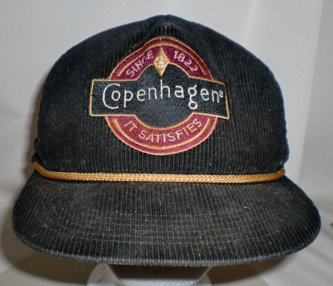 Vintage Copenhagen Tobacco Hat Corduroy Chew Trucker Hat by 413productions  on Etsy 296364335fb