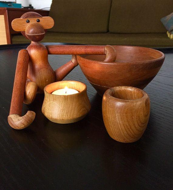 Kay Bojesen original vintage teak wood monkey  by Deerstedt
