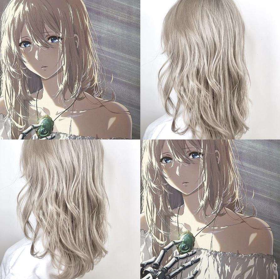 髪型 髪色 派手髪 コスプレ cosplay 透明感 グラデーションカラー インナーカラー ハイライトカラー ブラウン ベージュ グレージュ アニメ anime キャラクター character ハイライトカラー グラデーション カラー 冬 髪型