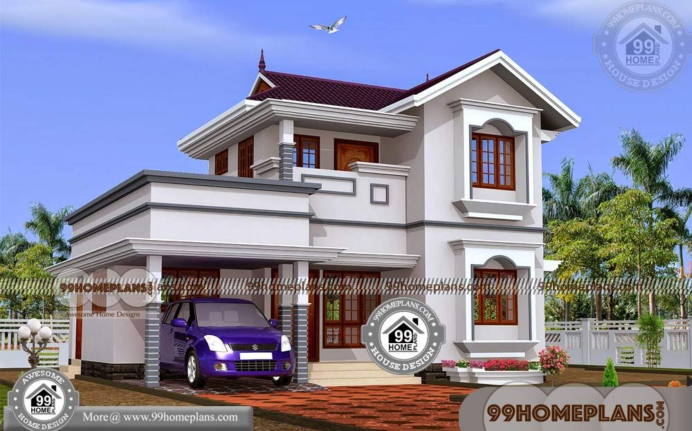 2 Story House Design And Plan With Indian House Models And Plans Having 2 Floor 3 Total Be Model House Plan Kerala House Design Small Contemporary House Plans