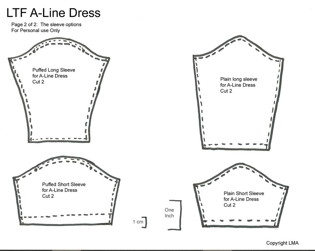 LMA - A Line Dress Pattern Pt2 V2 | Kleider