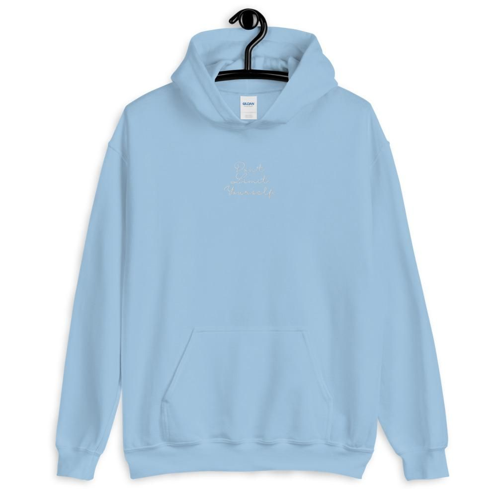 Everyone needs a cozy go-to hoodie to curl up in, so go for one that's soft, smooth, and stylish. It's the perfect choice for cooler evenings! • 50% pre-shrunk cotton, 50% polyester • Fabric weight: 8.0 oz/yd² (271.25 g/m²) • Air-jet spun yarn with a soft feel and reduced pilling • Front pouch pocket - White embroidery Fit: Standard Unisex **These are handmade so graphic placement may vary slightly.** Size guide S M L XL 2XL 3XL 4XL 5XL Length (inches) 27 28 29 30 31 32 33 34 Width (inches) 20 2