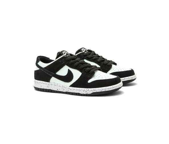 253f67cda3d20 NIKE SB Dunk Low Pro - Black Barley Green-White