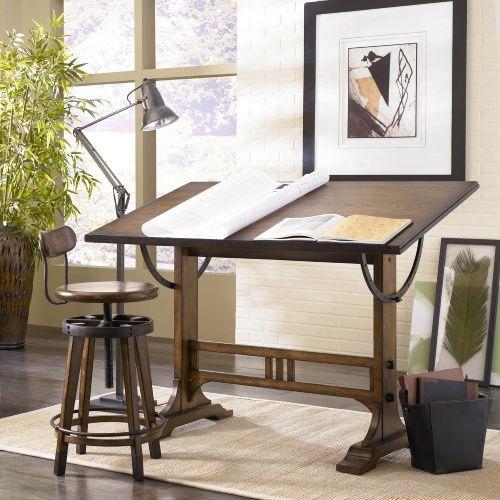 Hammary Studio Home Architect Desk Oak Drafting