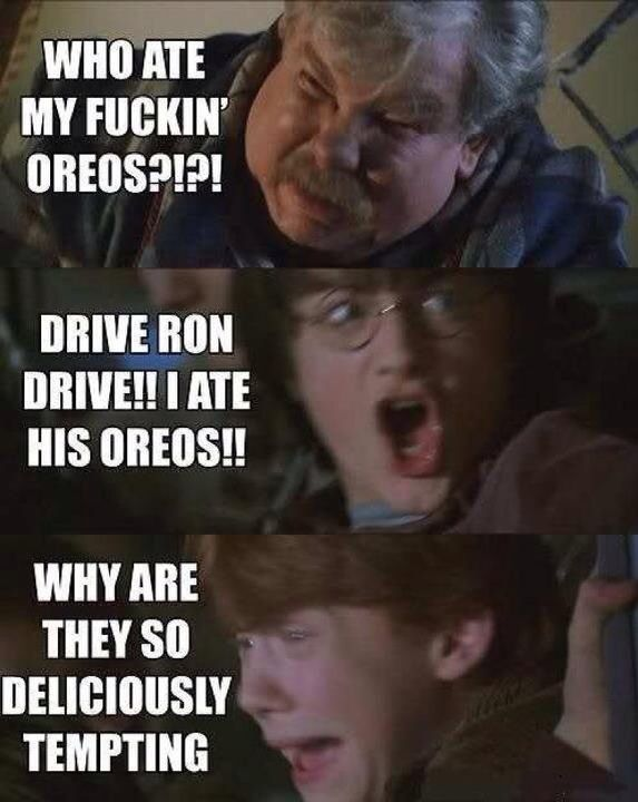 I ATE HIS OREOS!!   Harry Potter   Harry potter quotes, Harry potter