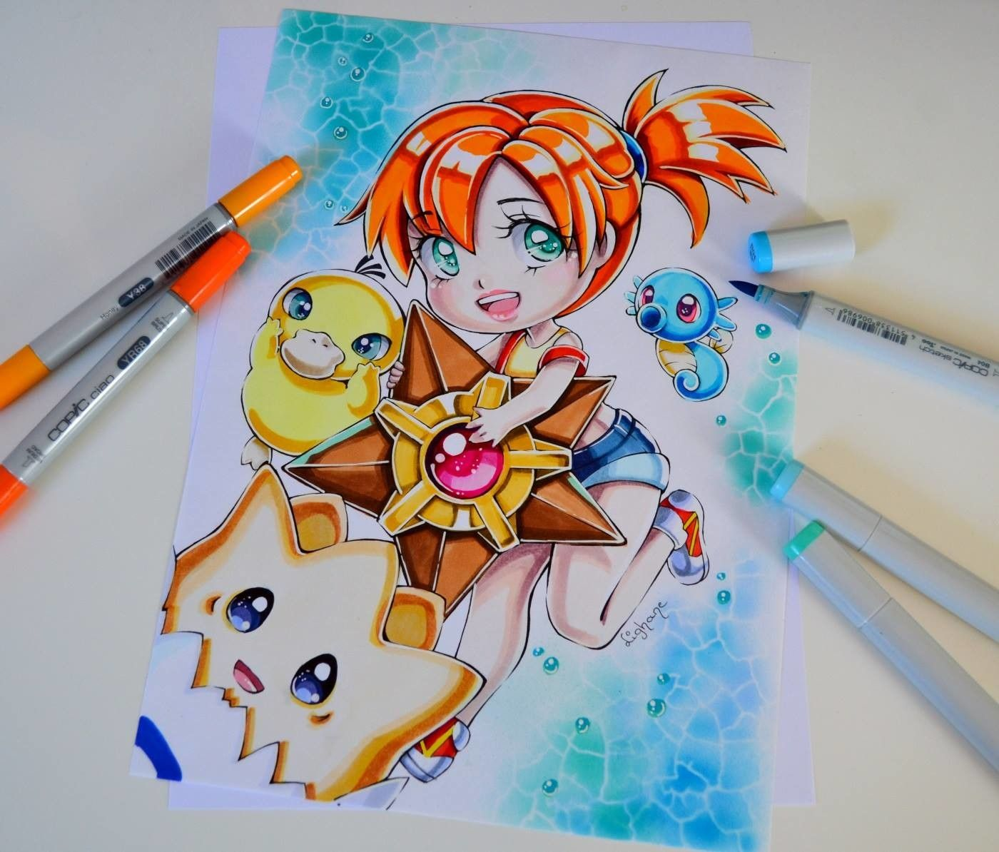 Misty / Pokémon / Copic Marker, Lighane's Artblog (With