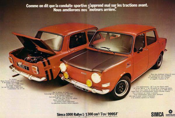 Simca 1000 Rallye Cars Vintage Sports Cars 70s Cars