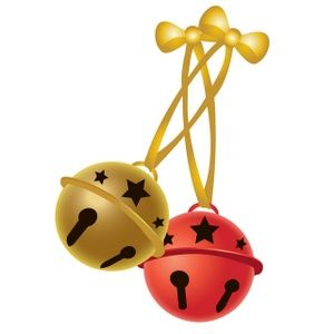 clip art illustration of two christmas jingle bells one brass and rh pinterest com jingle bell border clipart jingle bell clipart