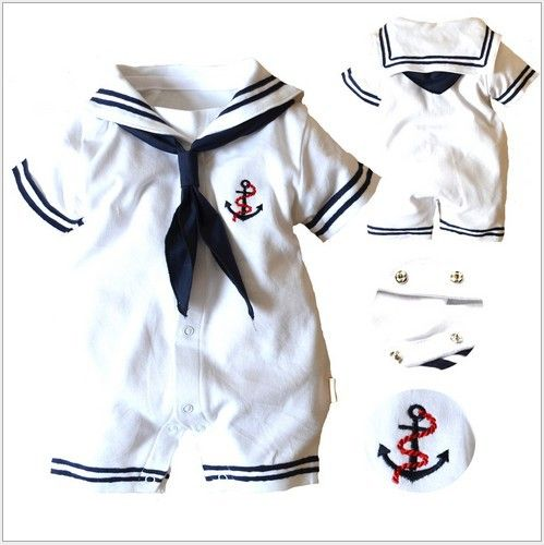 602169a81 Baby romper hot summer newborn baby boy clothes navy style jumpsuit ...