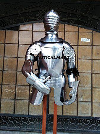 german maximilian larp half suit of armour halloween armor costume nauticalmart
