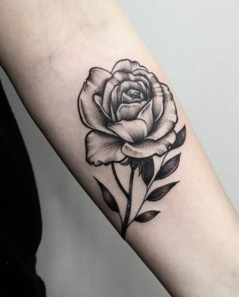 Black And Gray Rose Tattoo Flower Tattoos Rose Tattoos Tattoos