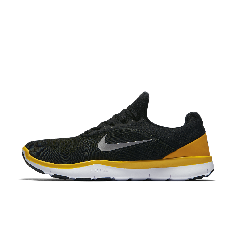 meet 0f1f9 c4109 Nike Free Trainer V7 (NFL Steelers) Men s Training Shoe Size 12.5 (Black)