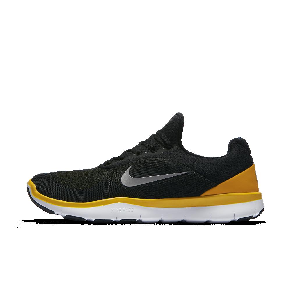 meet 709f2 41554 Nike Free Trainer V7 (NFL Steelers) Men s Training Shoe Size 12.5 (Black)