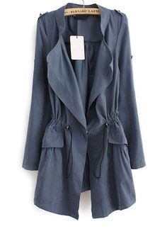 Fashion Long Sleeve Cotton Women Trench Coat | Trench, Cotton and ...