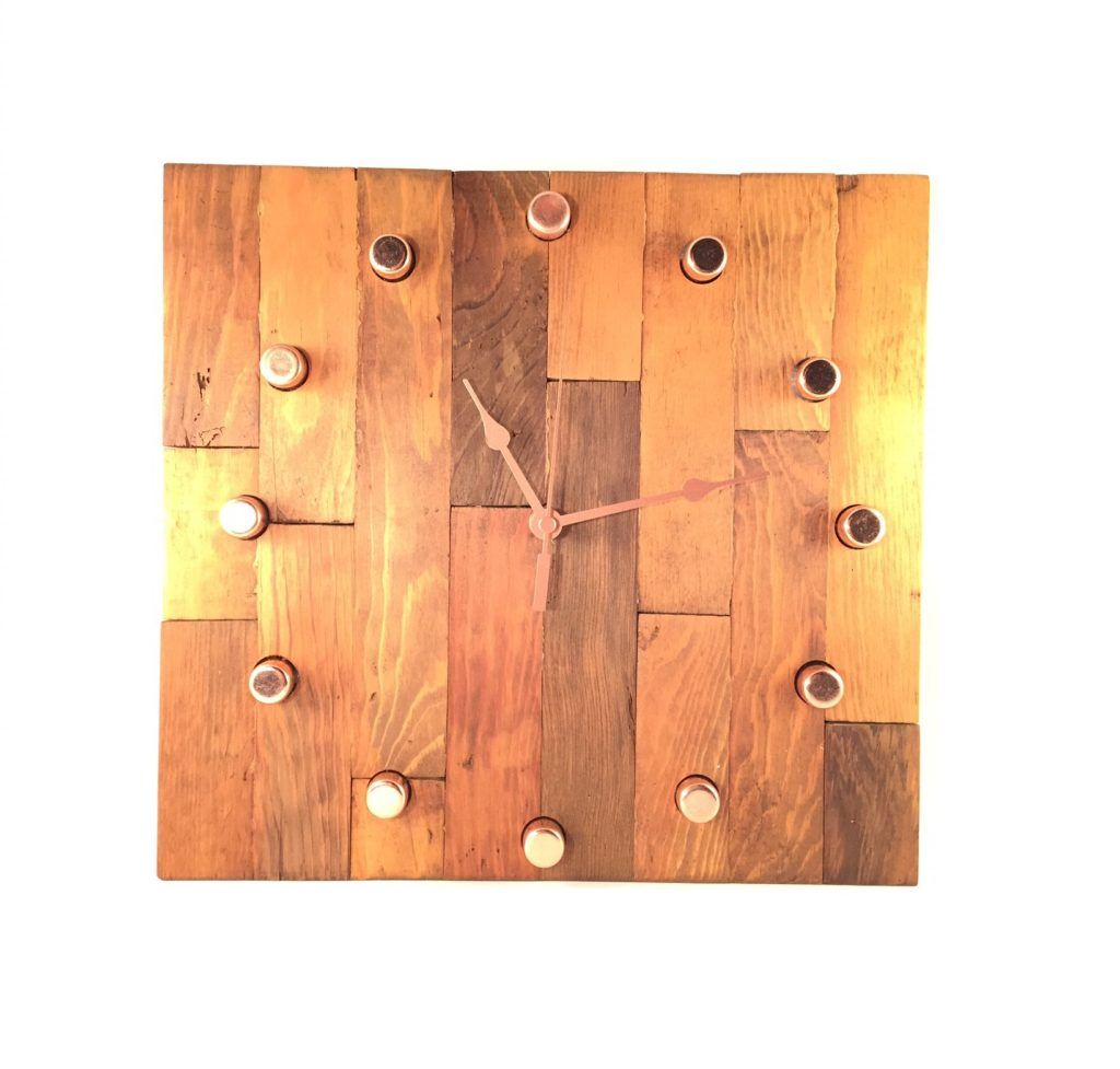 DIY butcher block clock