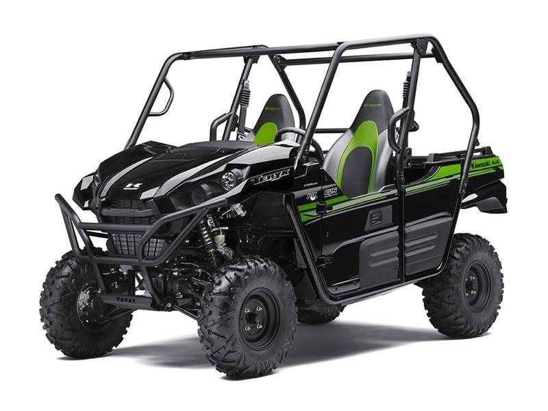 "New 2017 Kawasaki Teryx® ATVs For Sale in Florida. The sporty Teryx® takes the combination of sport performance and essential utility to unprecedented levels. 783 cc V-twin engine with strong mid-range power delivery Continuously Variable Transmission (CVT) with confidence-inspiring engine braking performance under certain conditions Durable and light weight ""Double-X"" frame construction Tilt steering, Electric Power Steering (EPS) and tight 16.7 ft. turning radius Fox Podium piggyback…"