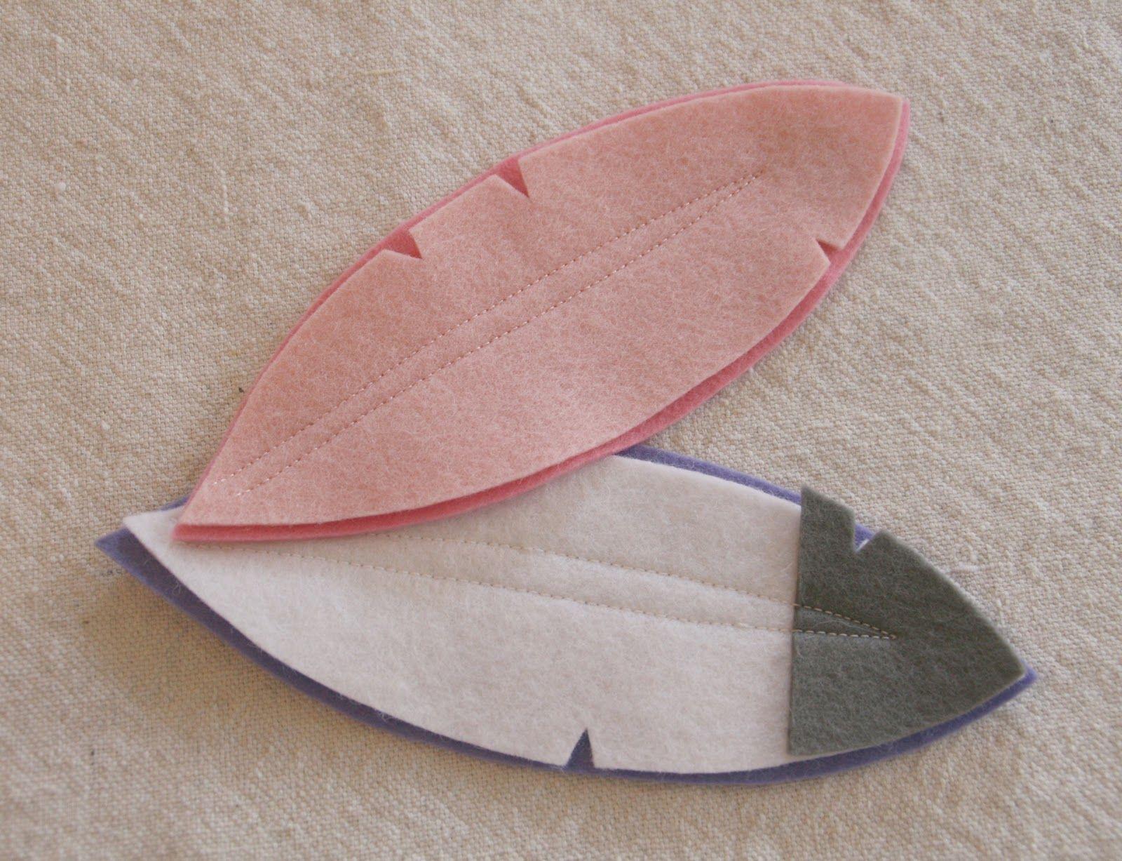Felt Feather Tutorial | ideas | Pinterest | Fieltro, Moños y Indio