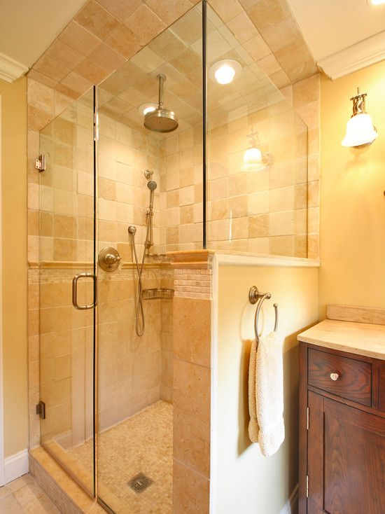 Bathroom Half Wall Design, Pictures, Remodel, Decor and Ideas - page 4