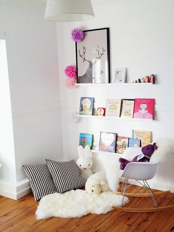 reading nooks for kiddos (the boo and the boy) Rincones de lectura