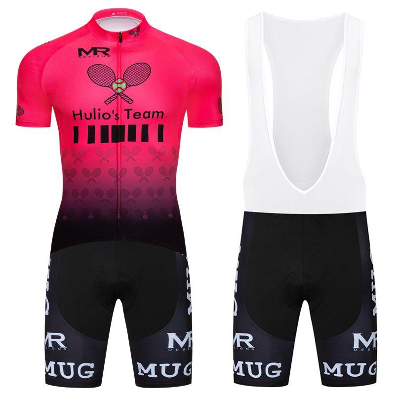 New Short Sleeve Cycling Mens Jersey Bib Shorts Set Bike Shirt Pad Tights Kits