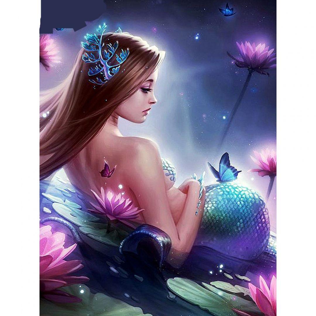 5d diy mermaid diamond painting diabroidery in 2020