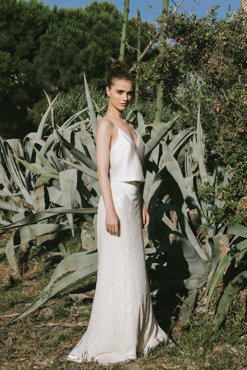 Rock & Top - Zweiteilige Brautkleider | Brautkleider, Romantisch und ...