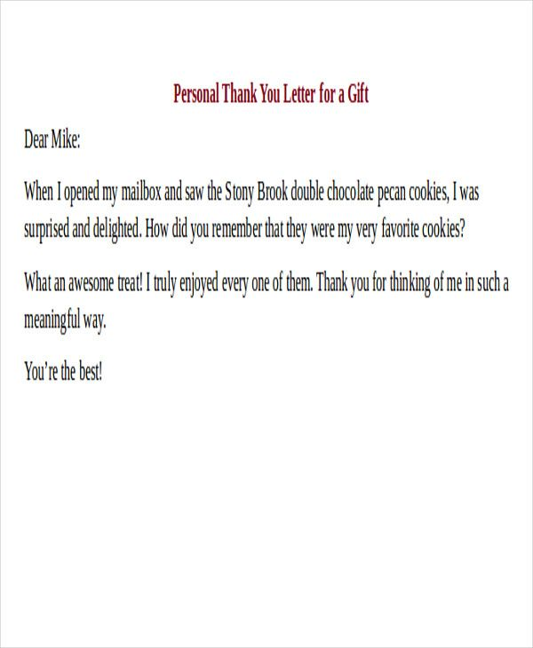 thank you note examples and tips letter friend Home Design Idea - personal thank you letter