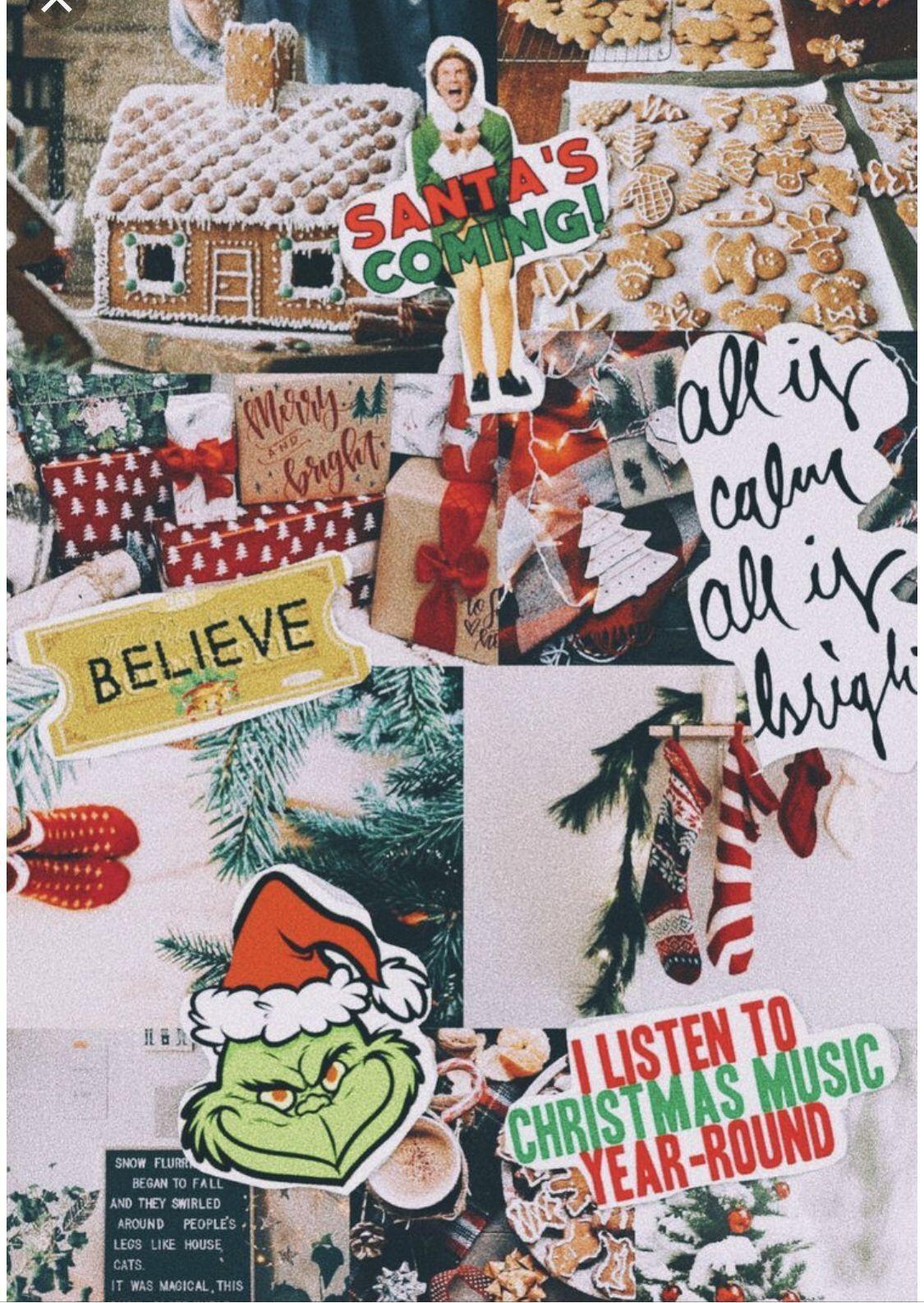 Estherrplatt Christmas Wallpaper Cute Christmas Wallpaper Christmas Collage