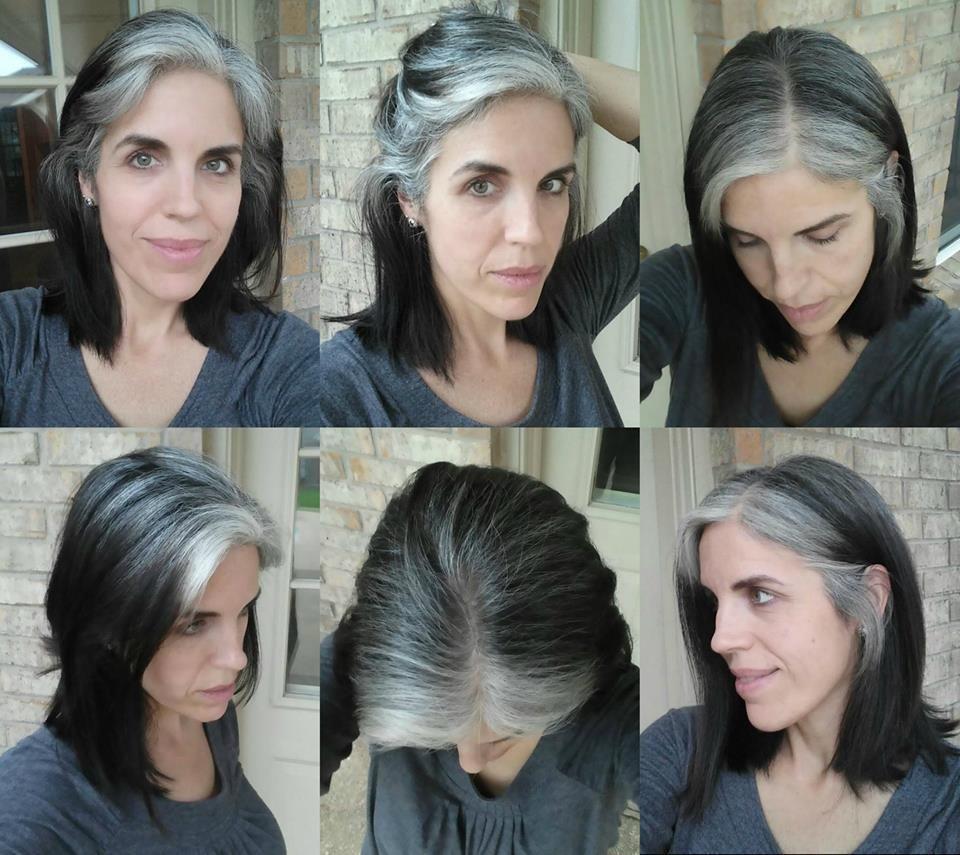 Salt and pepper gray hair. Grey hair. Silver hair. White hair ...