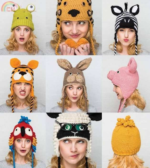 Crocheted Animal Hats 15 Patterns To Hook And Show Off For Adults