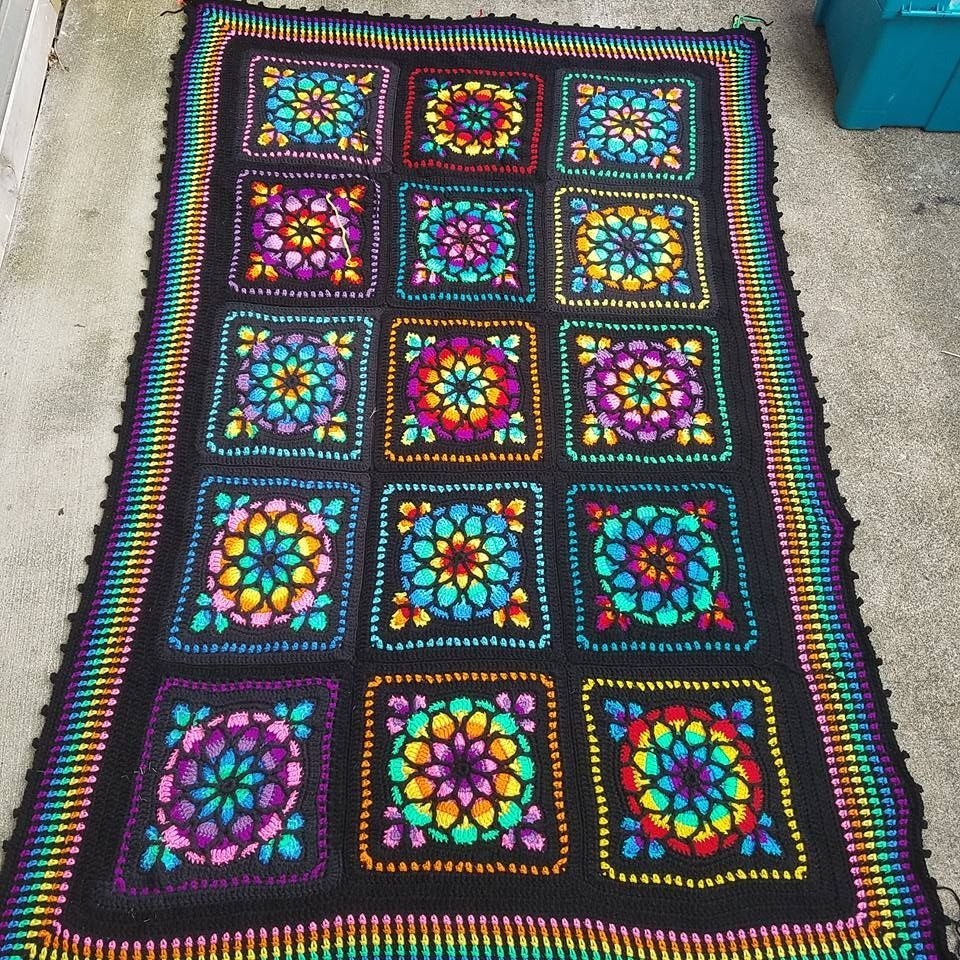 Gorgeous Stained Glass Afghan Crochet Rug Patterns Afghan