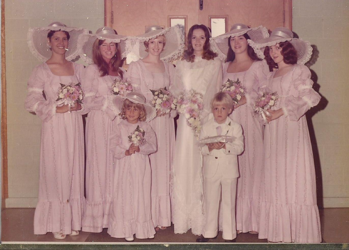 1974- apparently this WAS the style! My parents were married in 1974 ...