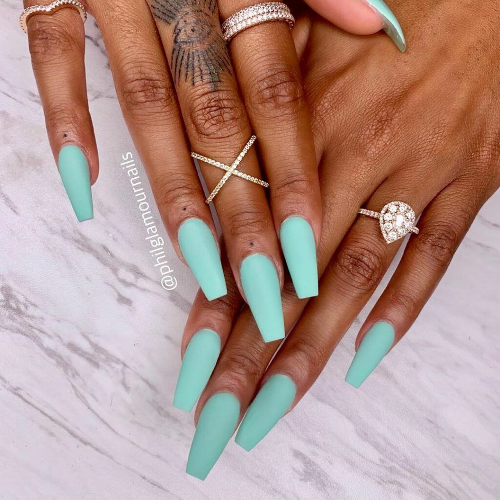 Light Brown Marble Nail Color And Almond Nail Design On Dark Skin Pink Chrome Nails Coffin Shape Nails Baby Blue Nails