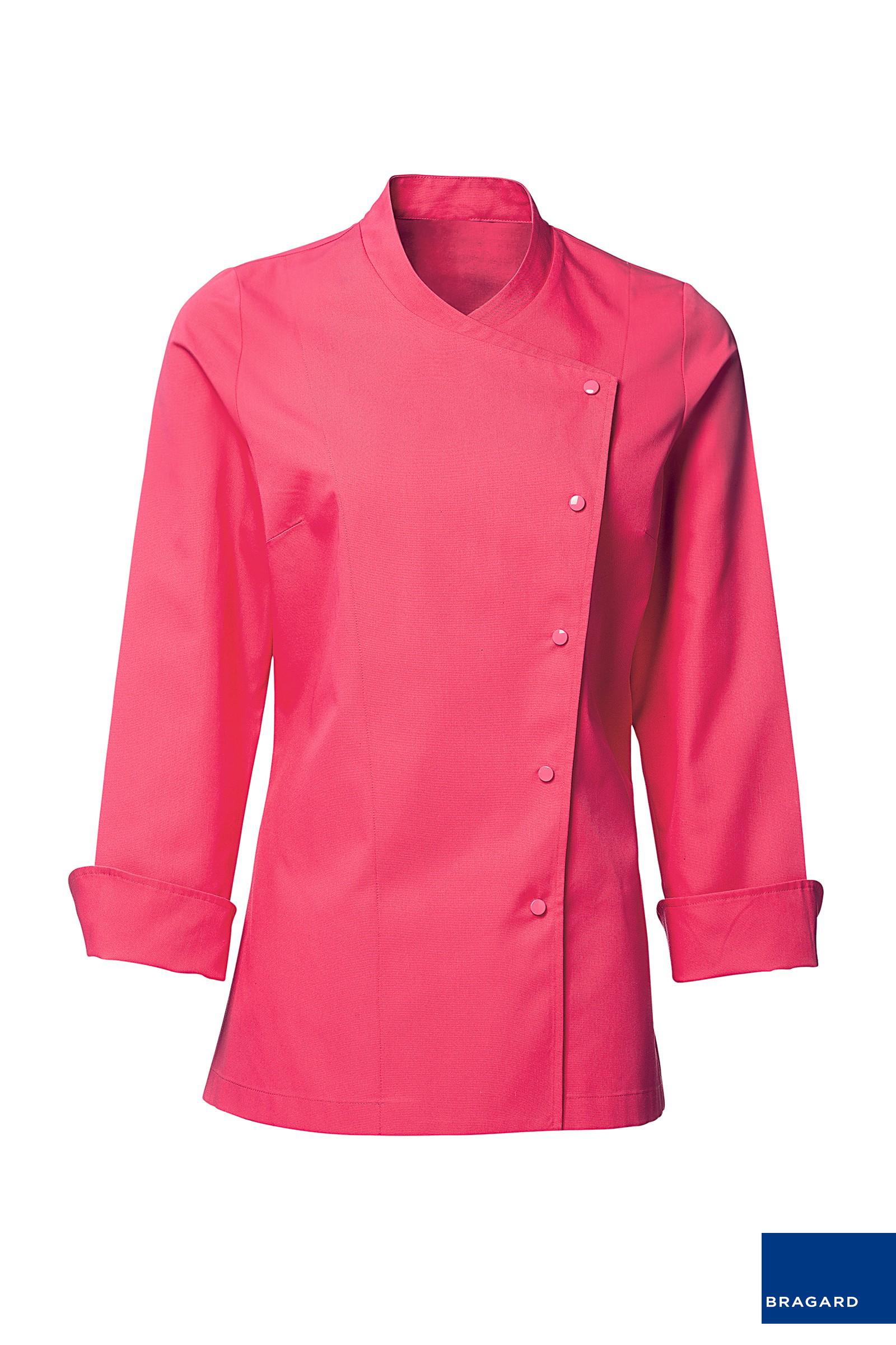 Julia chaqueta de cocina mujer rosa chaquetilla de cocina - Cocinas rosa fucsia ...