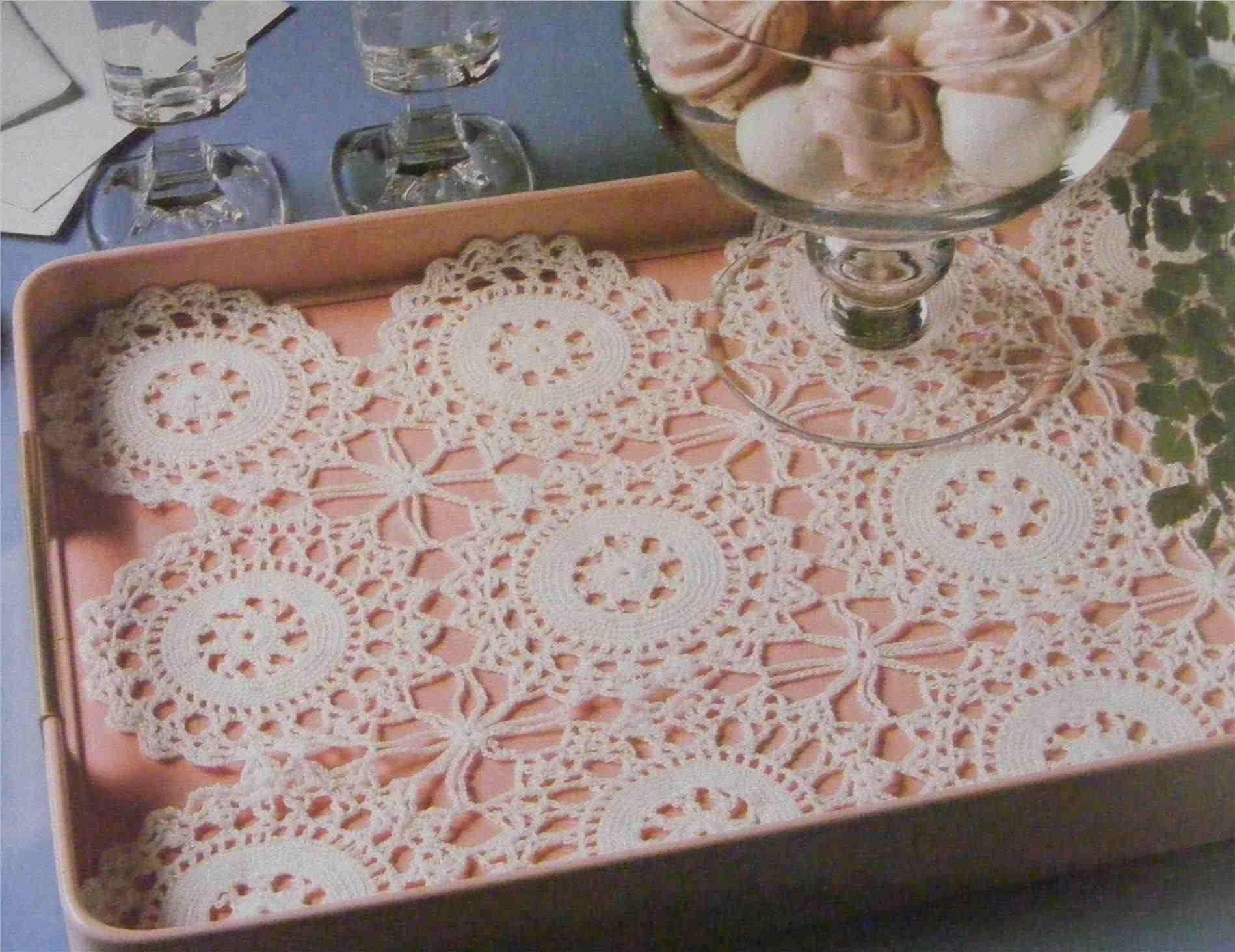 Crochet Rectangle Tablecloth Patterns Free Crochet Snowflake Doily