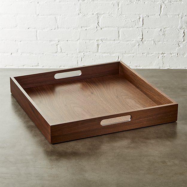 square walnut tray | CB2