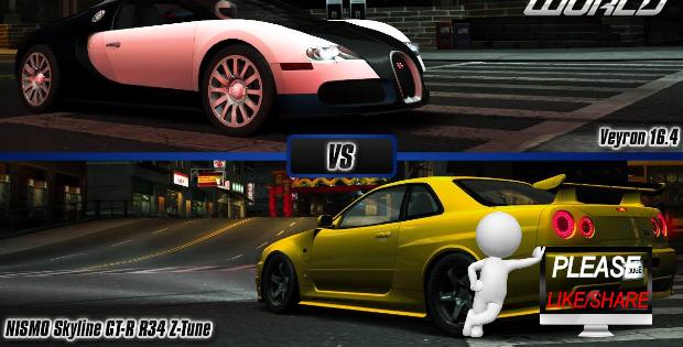 Skyline GT-R Vs. Bugatti Veyron - //www.grindingearz.com ... on gt-r vs laferrari, gt-r vs mclaren p1, gt-r vs lamborghini gallardo, car world bugatti veyron, gt-r vs evo, gt-r vs police, gt-r vs corvette, nissan skyline racing bugatti veyron,