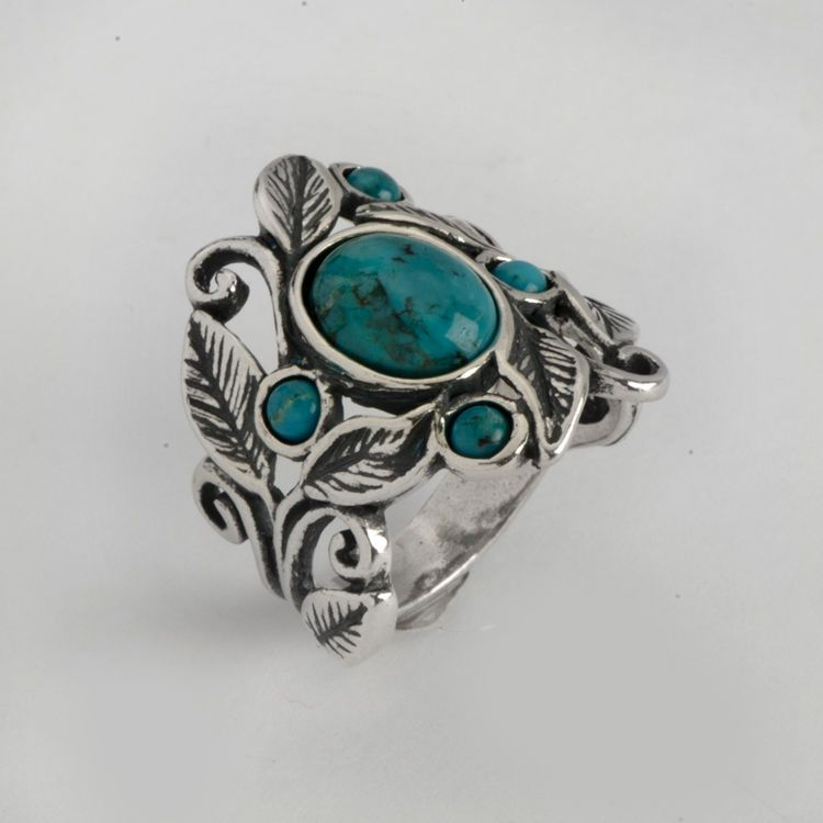 16a654134 Classic Shablool Didae Israel Ring Sterling Silver Blue and Green Round  Women