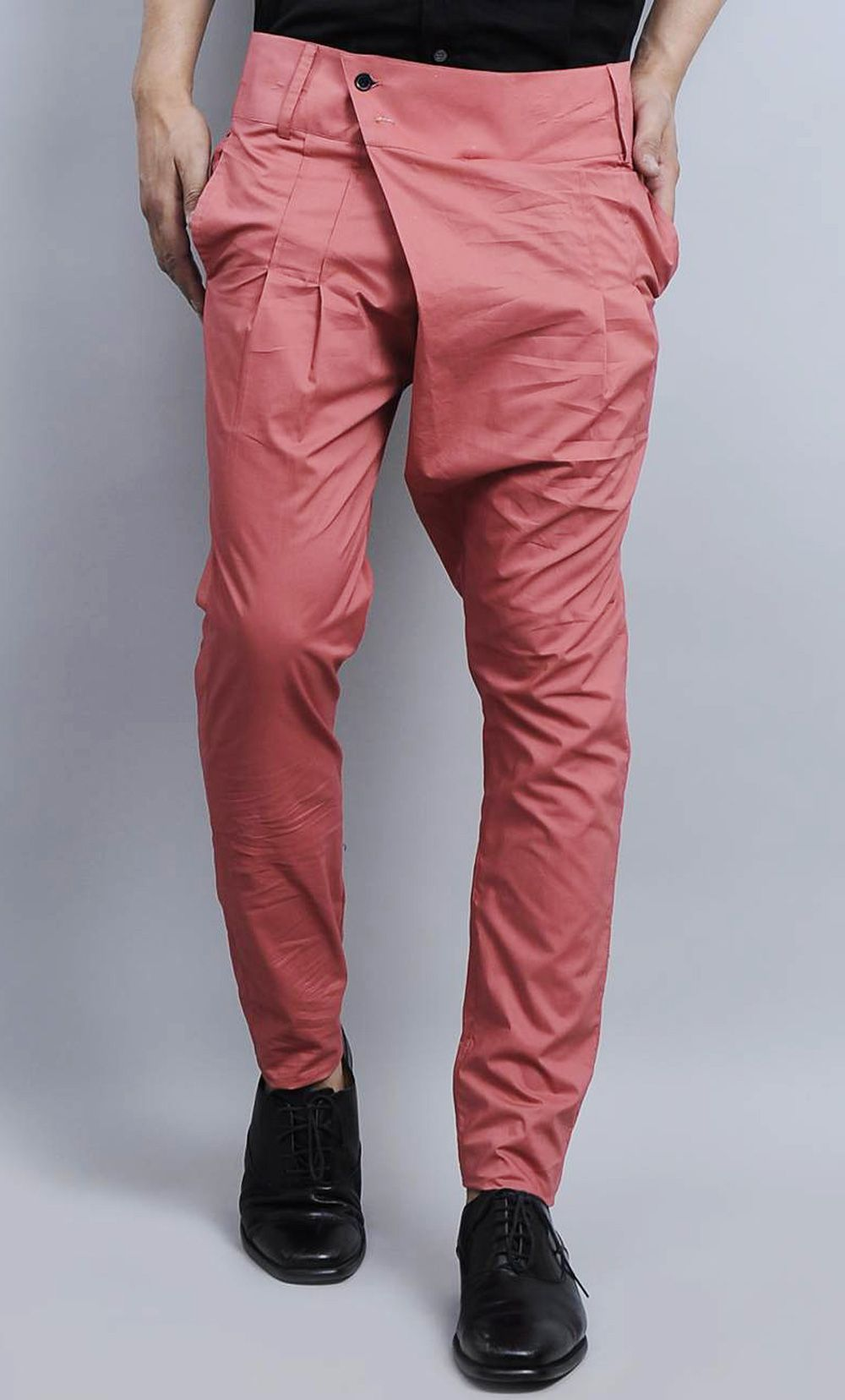 pink cotton men casual pants