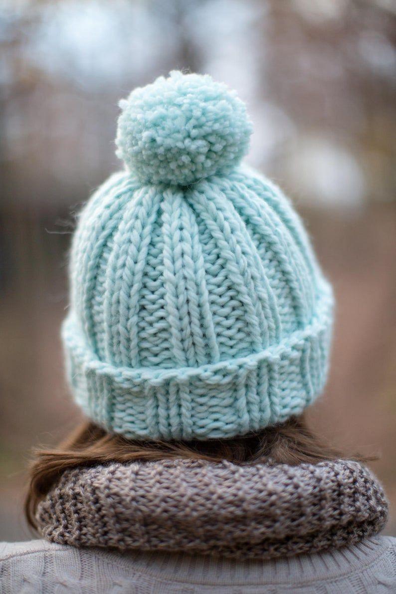Aurora Chunky Beanie Knitting Pattern | Beginner Hat ...