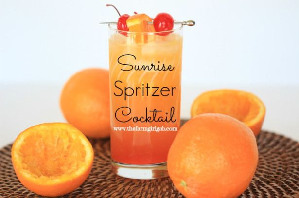 Sunrise Spritzer Cocktail - How Does Your Garden Grow?