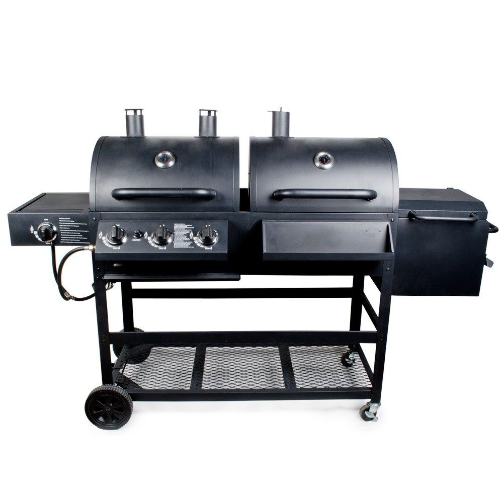 Charmant Backyard Pro Mobile Outdoor Gas And Charcoal Grill / Smoker   Knocked Down