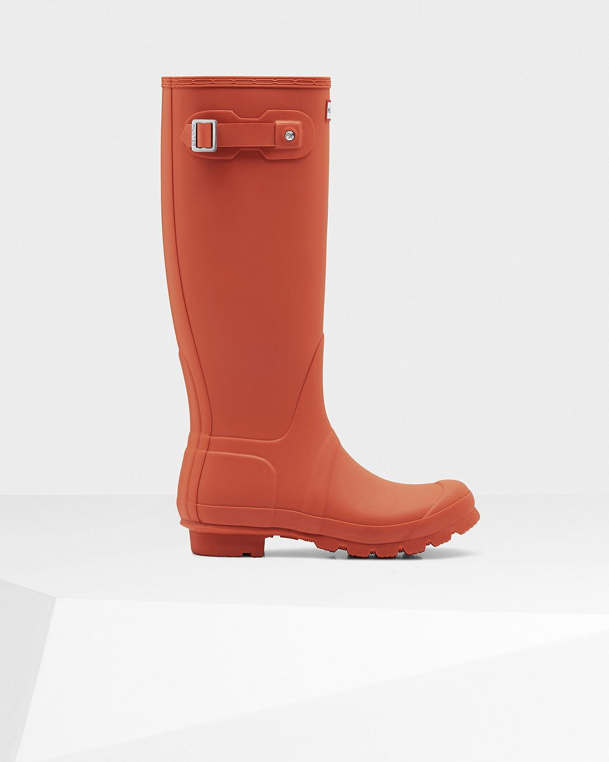 Womens Red Tall Rain Boots | Official US Hunter Boots Store ...