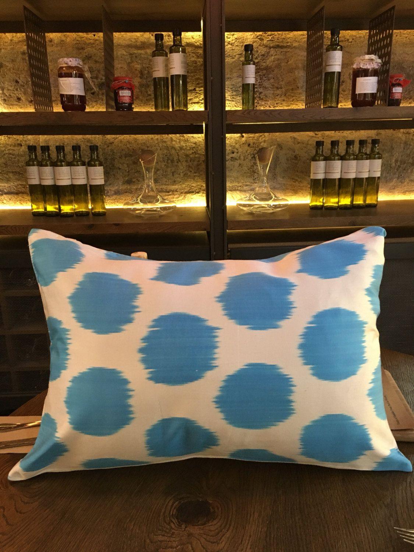 Silk Uzbek Cushion,Silk Ikat Cushion,Handmade Cushion,Ikat Cushion Case,Decorative Pillow,Uzbek Velvet Cushion by LoomArtLife on Etsy