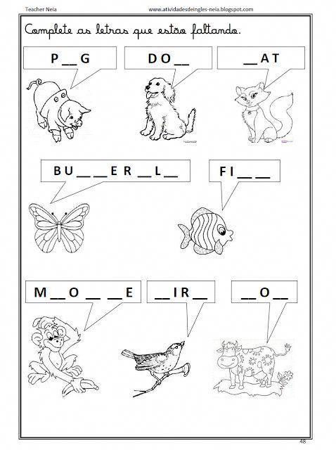 Image result for prova de ingles pre escola #